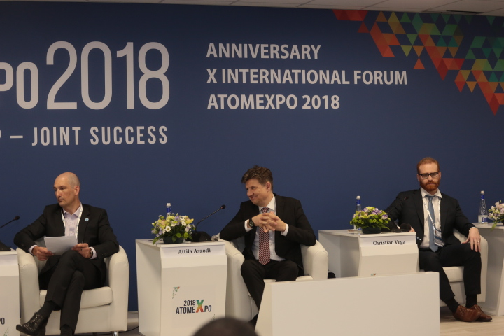 International experts discussed global cooperation in public acceptance of nuclear energy within the framework of the round table at the ATOMEXPO-2018 forum