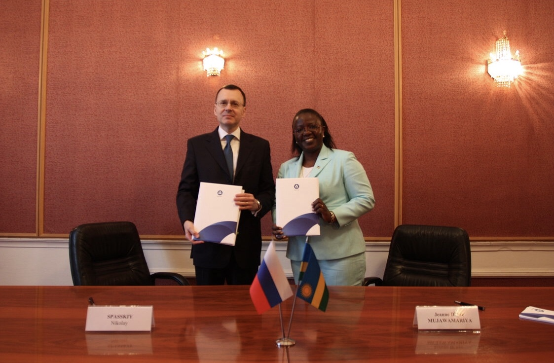 Russia and Rwanda signed a Memorandum of Understanding on cooperation in the field of peaceful uses of atomic energy
